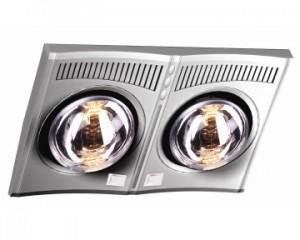 Đèn sưởi nhà tắm Hans 2 bóng (H2B610)