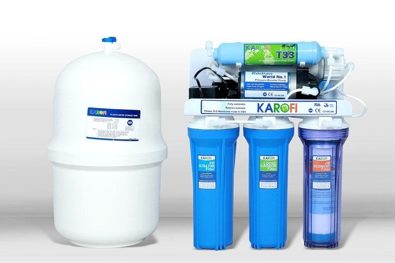 Máy lọc nước Karofi 7 lõi lọc không tủ bình áp nhựa (K70)