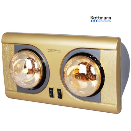 Đèn sưởi nhà tắm Kottmann 2 bóng K2BNV