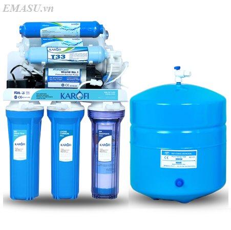 Máy lọc nước Karofi 8 lõi lọc không tủ bình áp thép (KT80 )