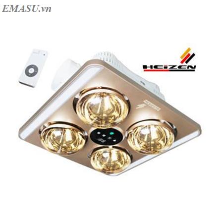Đèn sưởi 4 bóng âm trần Heizen điều khiển từ xa HE9 (HE-9)