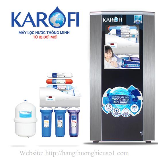 Máy lọc nước thông minh Karofi 9 lõi lọc iRO 1.1 tủ IQ (K9I-1)