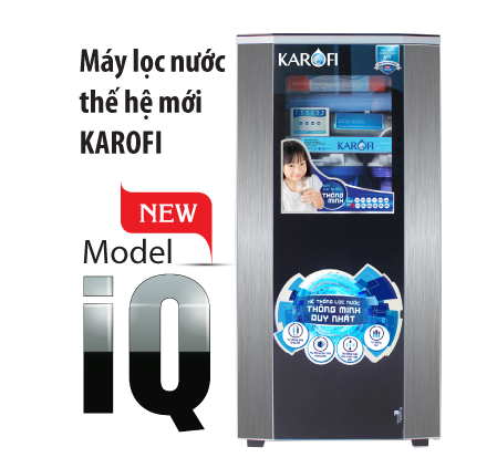 Máy lọc nước Karofi 9 cấp lọc bình áp nhựa tủ IQ (KT9)