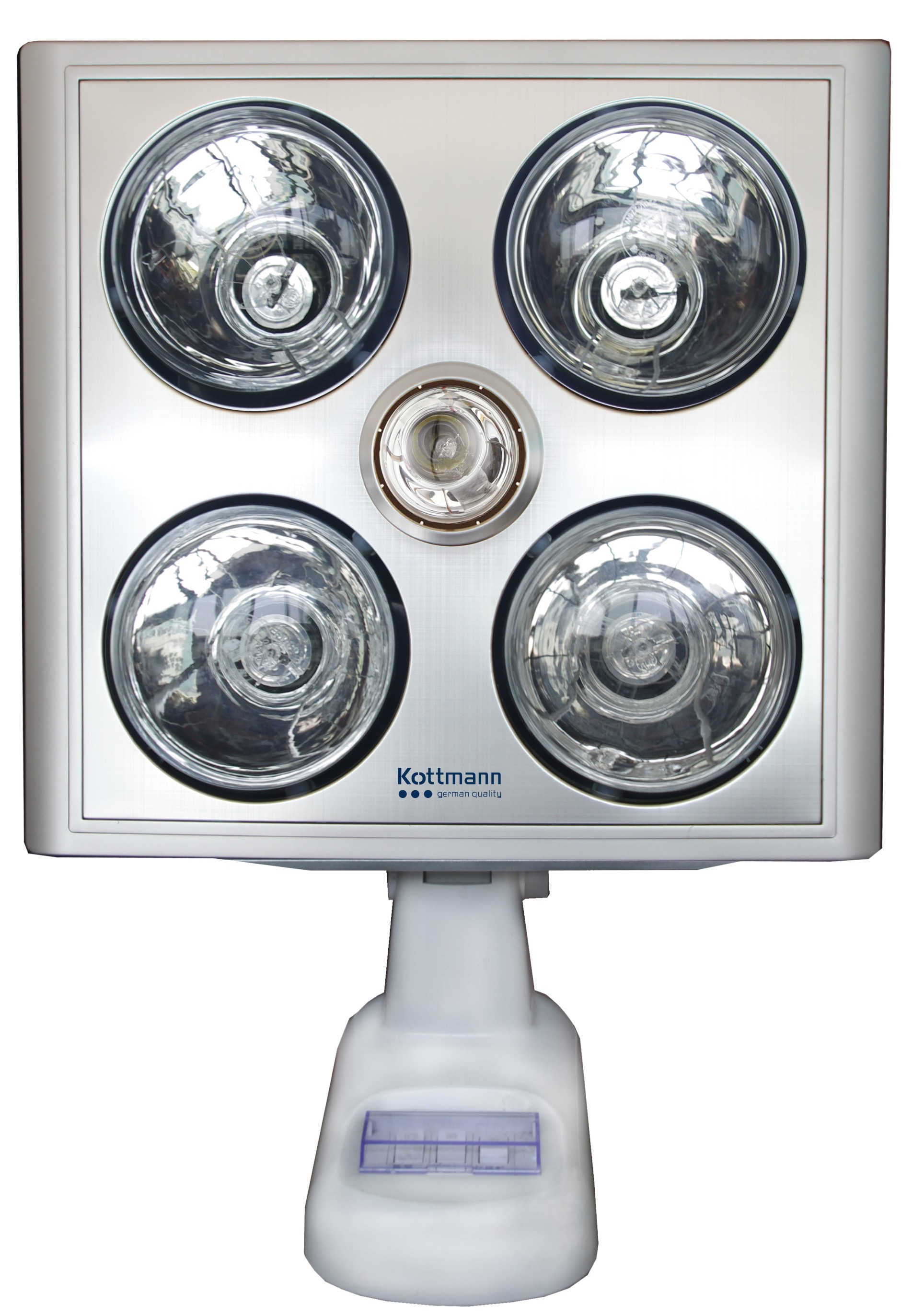 Đèn sưởi nhà tắm kottman 4 bóng treo tường - dòng bạc (K4B-S)