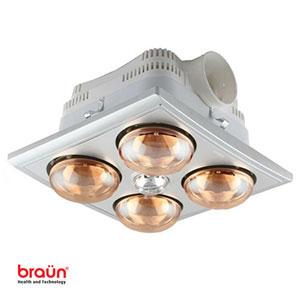 Đèn sưởi nhà tắm Braun 4 bóng âm trần (BU04G)