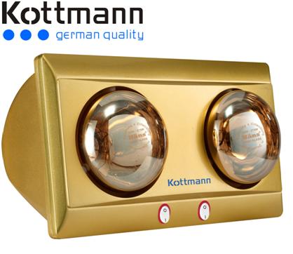 Đèn sưởi nhà tắm Kottmann 2 bóng K2BY