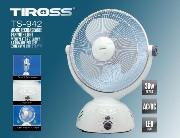 Quạt tích điện TIROSS TS942